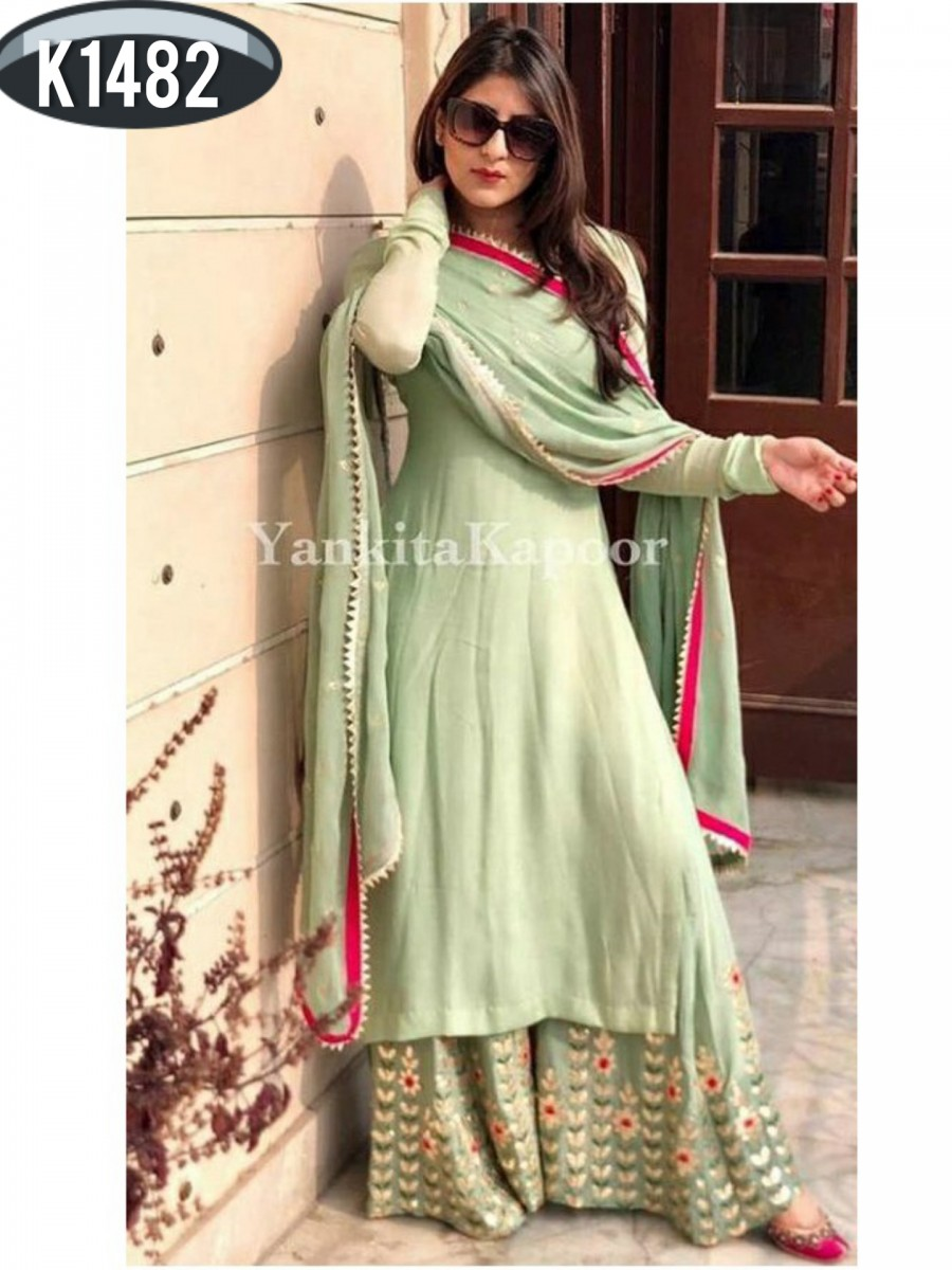 DESIGNER 60 GM GEORGETTE KURTI SET K1482