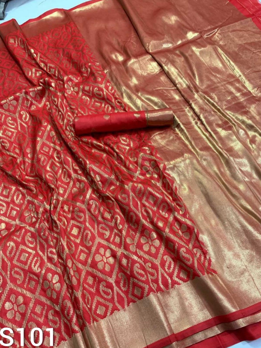 DESIGNER BANARASI HANDLOOM SILK SAREE WITH PICH PALLU S101