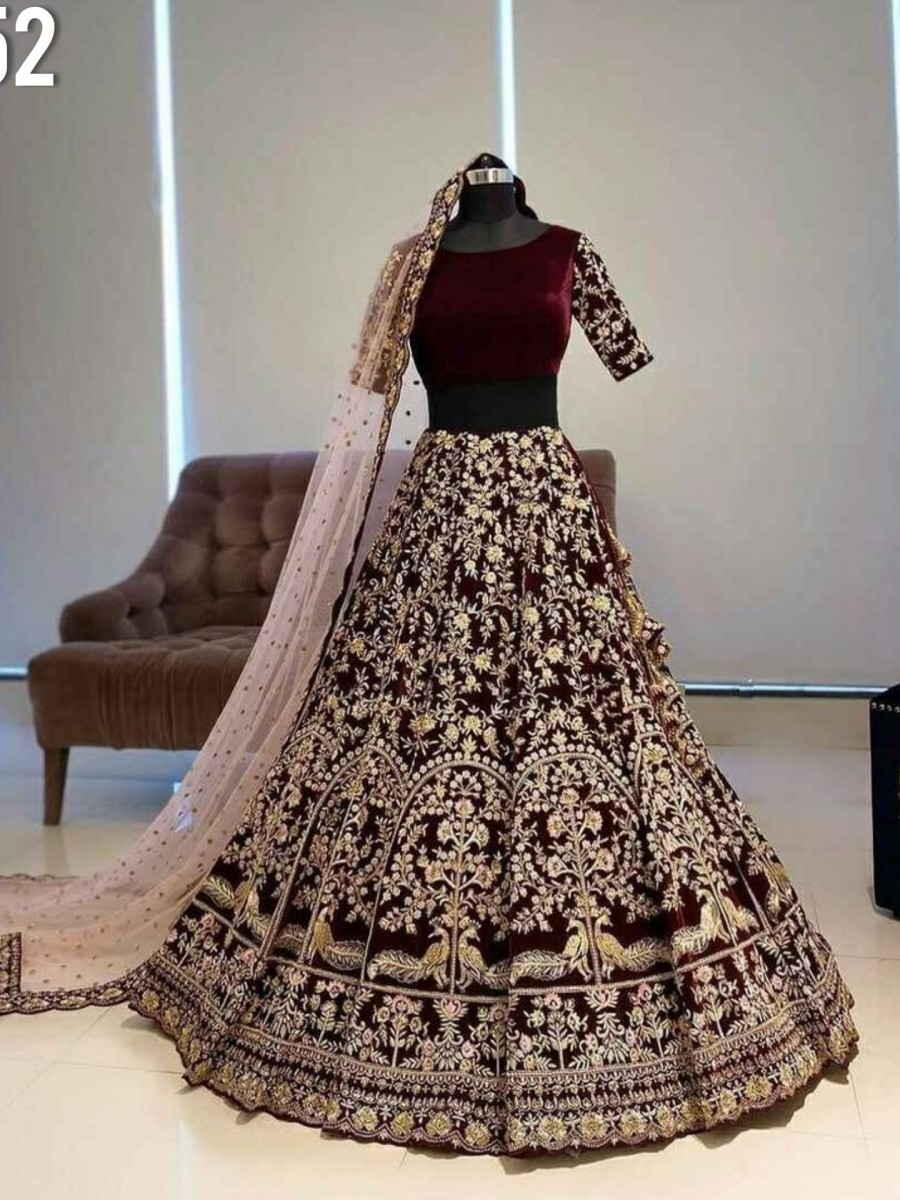 DESIGNER BANGLORY LEHENGA WITH HEAVY EMBROIDERY WORK L152