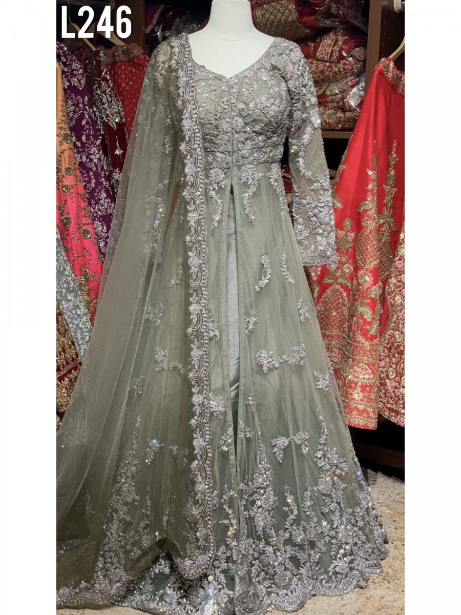 DESIGNER BUTTERFLY NET LEHENGA CHOLI WITH HEAVY EMBROIDERY WORK  L246