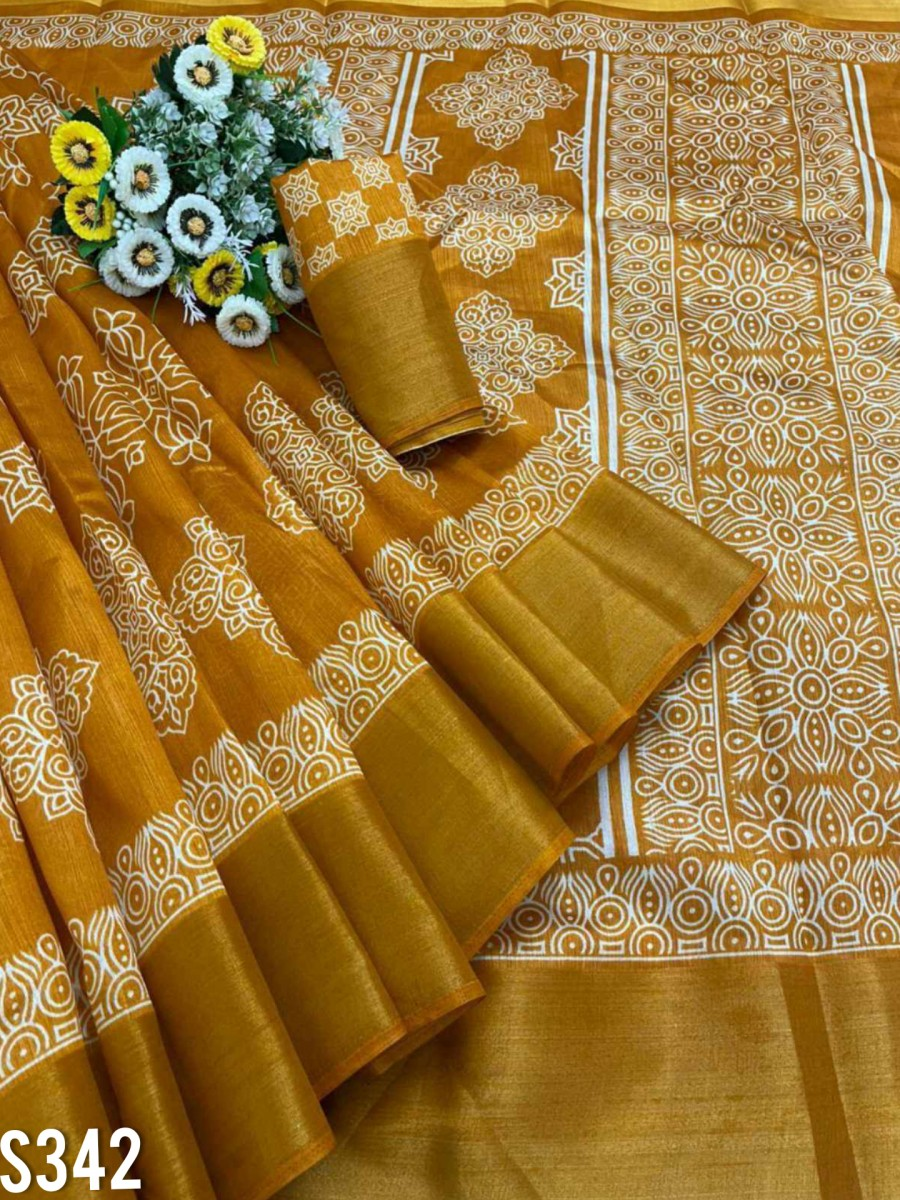 DESIGNER COTTON SAREE S343