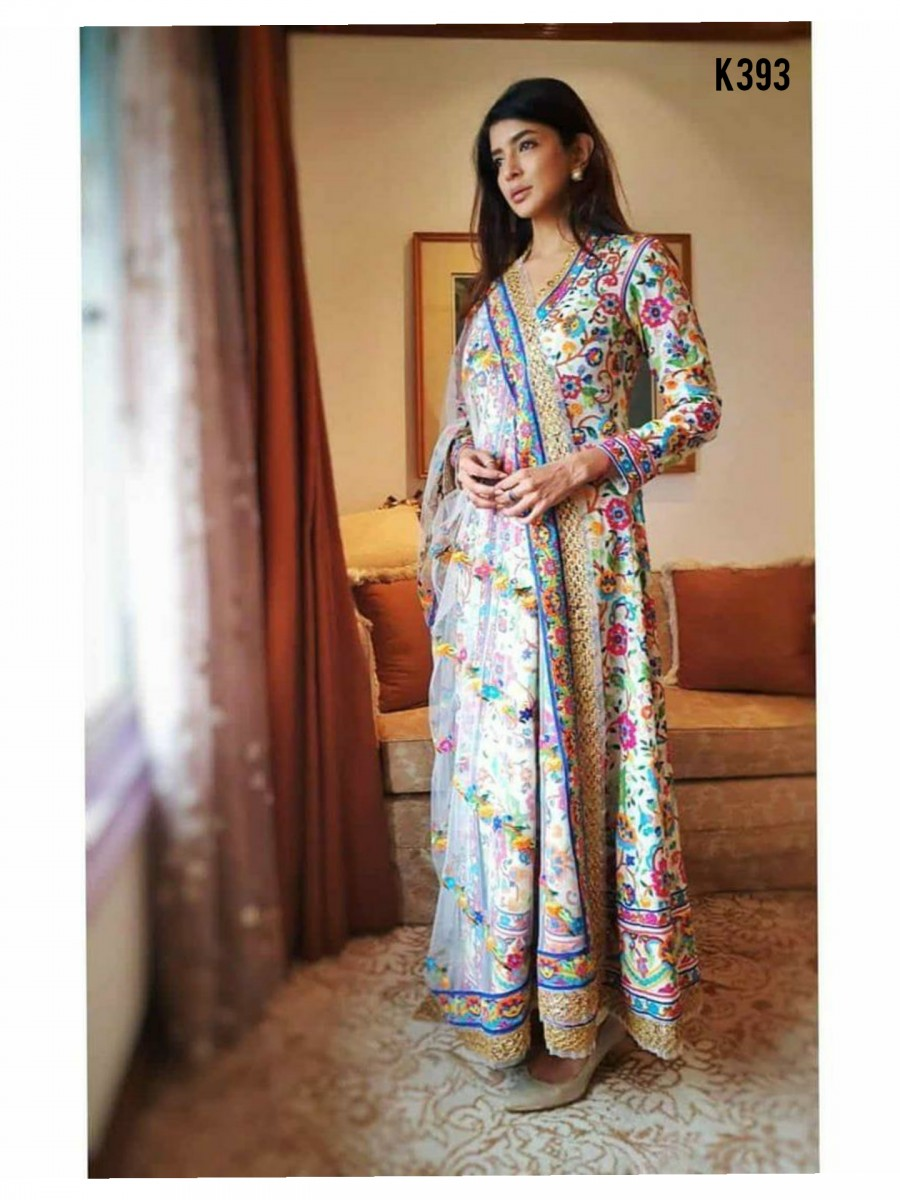 DESIGNER DIGITAL PRINT GOWN K393