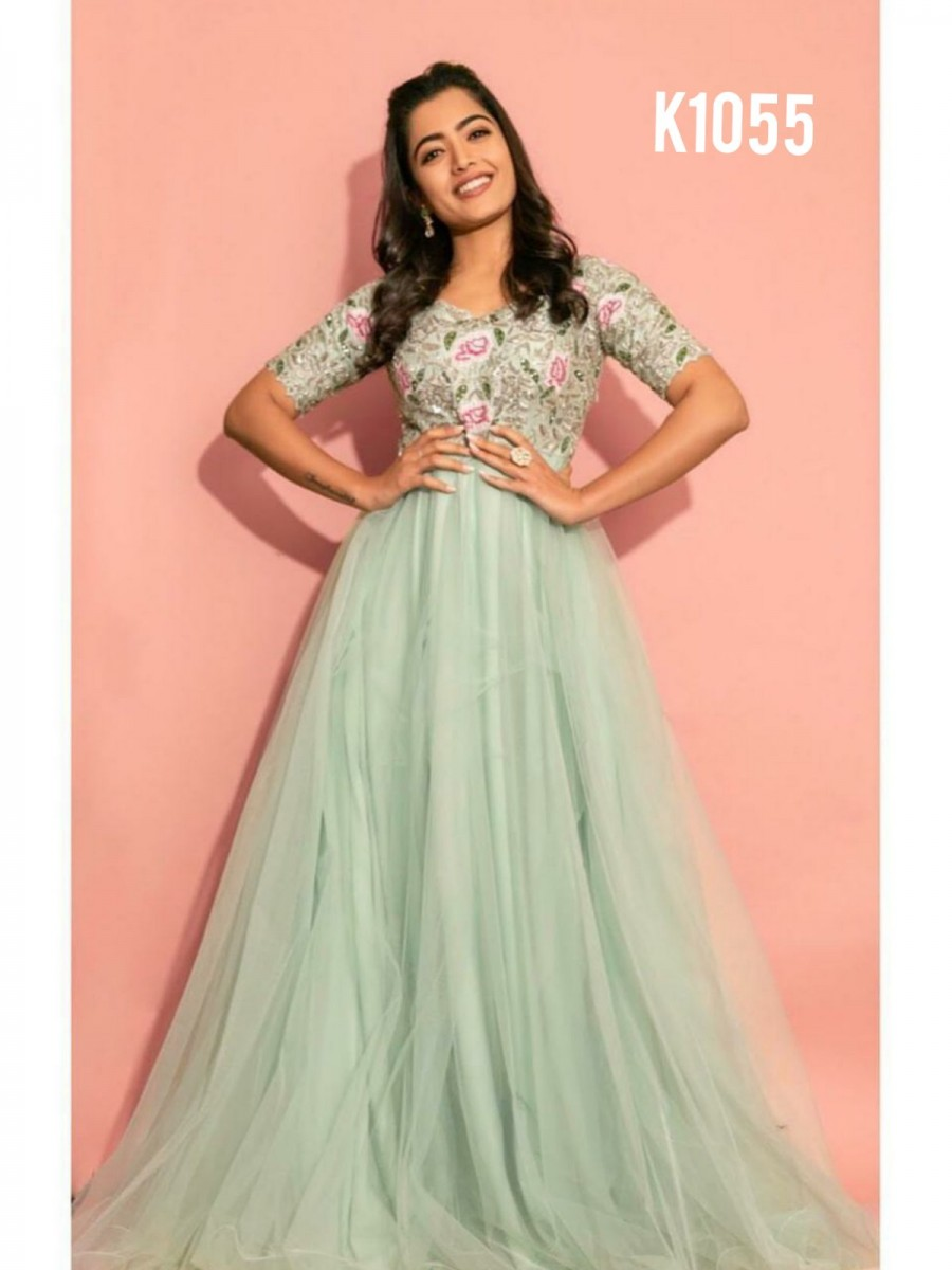 DESIGNER EMBROIDERY ANARKALI STYLE GOWN K1055