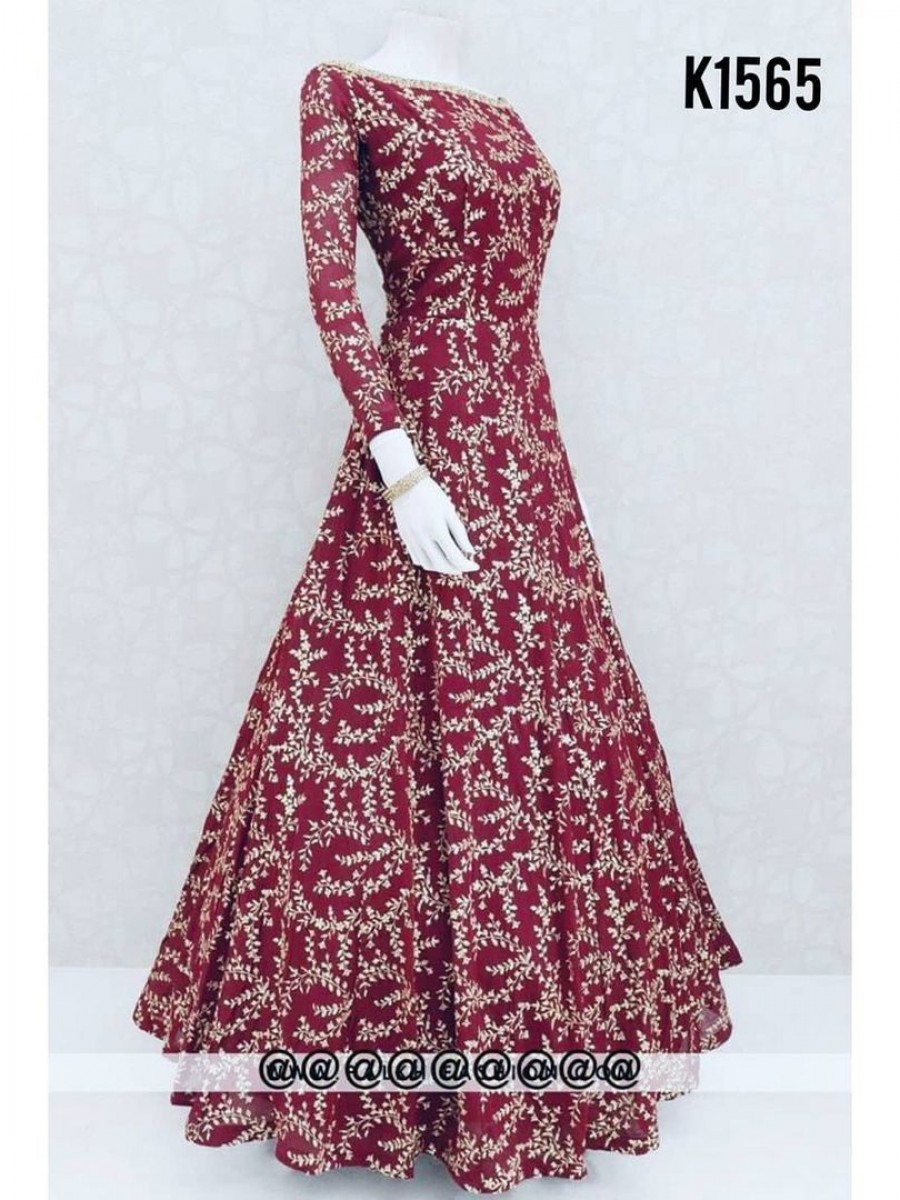 DESIGNER EMBROIDERY GOWN K1565