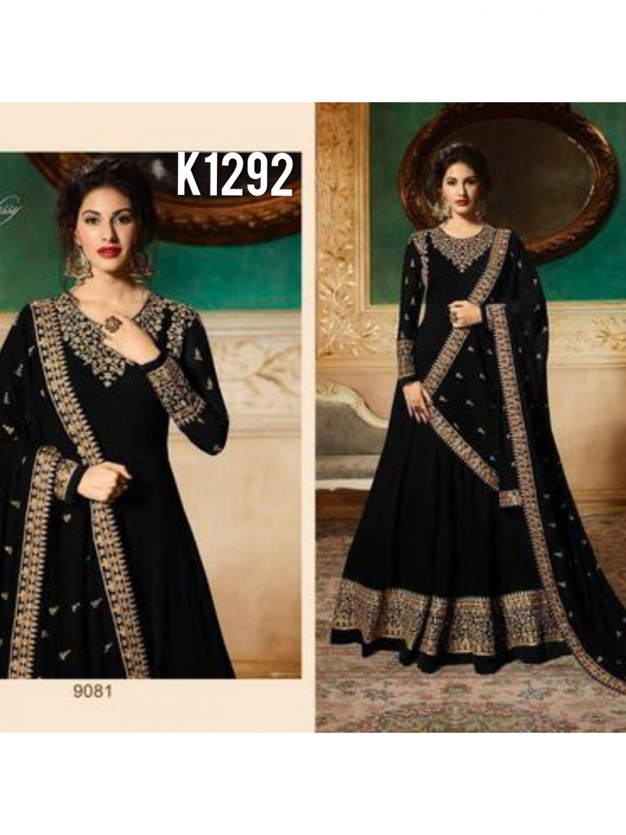DESIGNER GEORGETTE ANARKALI WITH CODDING EMBROIDERY AND STONE WORK K1292
