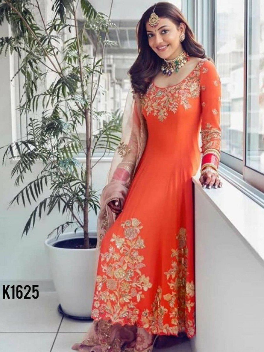 DESIGNER GEORGETTE GOWN WITH EMBROIDERY WORK K1625