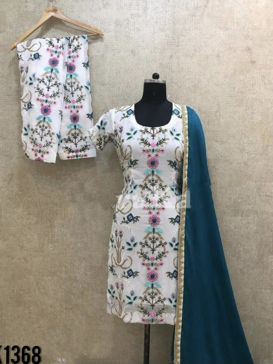 DESIGNER GEORGETTE KURTA WITH EMBROIDERY KURTA WITH EMBROIDERY WORK K1368