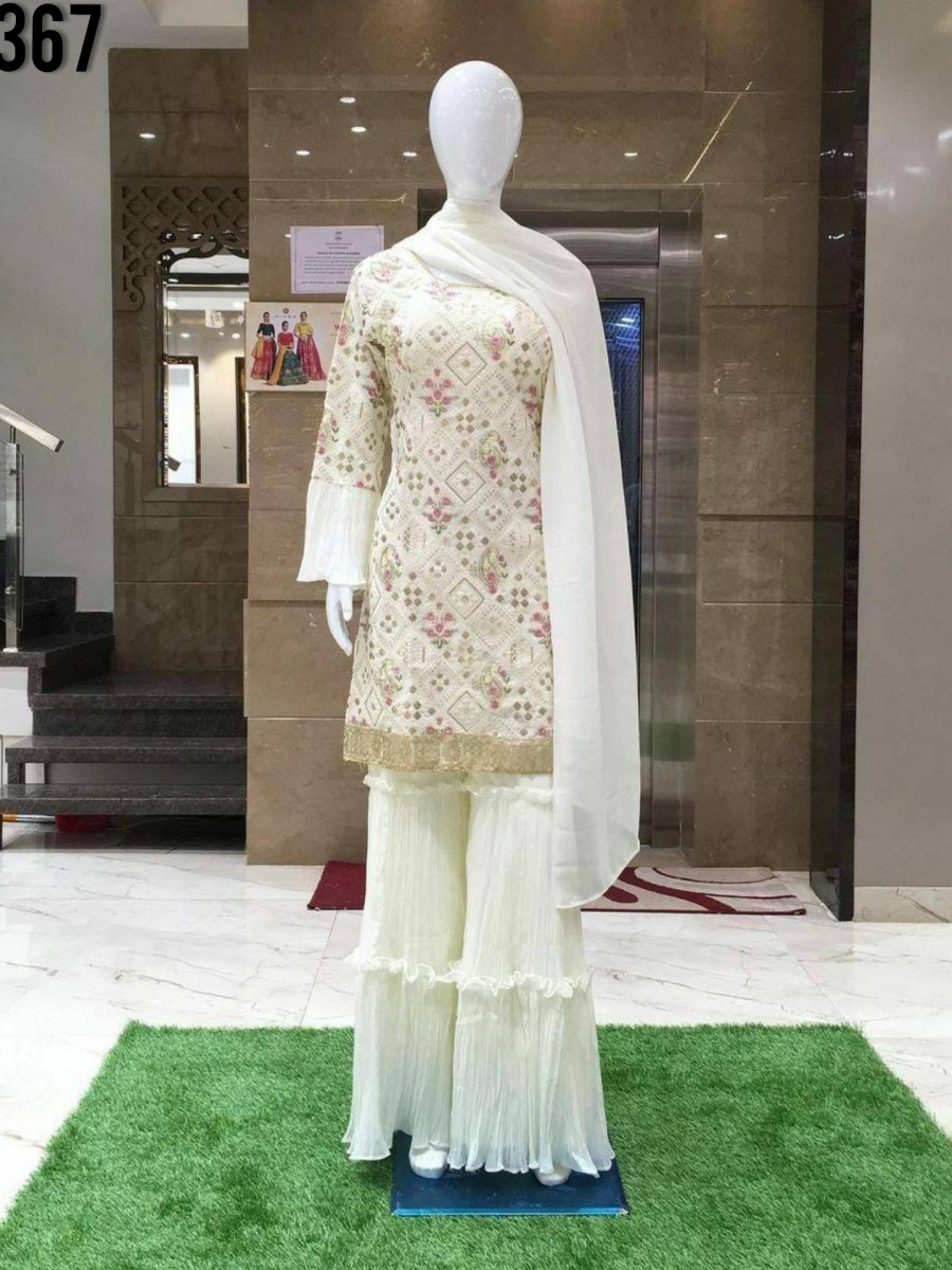 DESIGNER GEORGETTE KURTA WITH EMBROIDERY WORK K1367