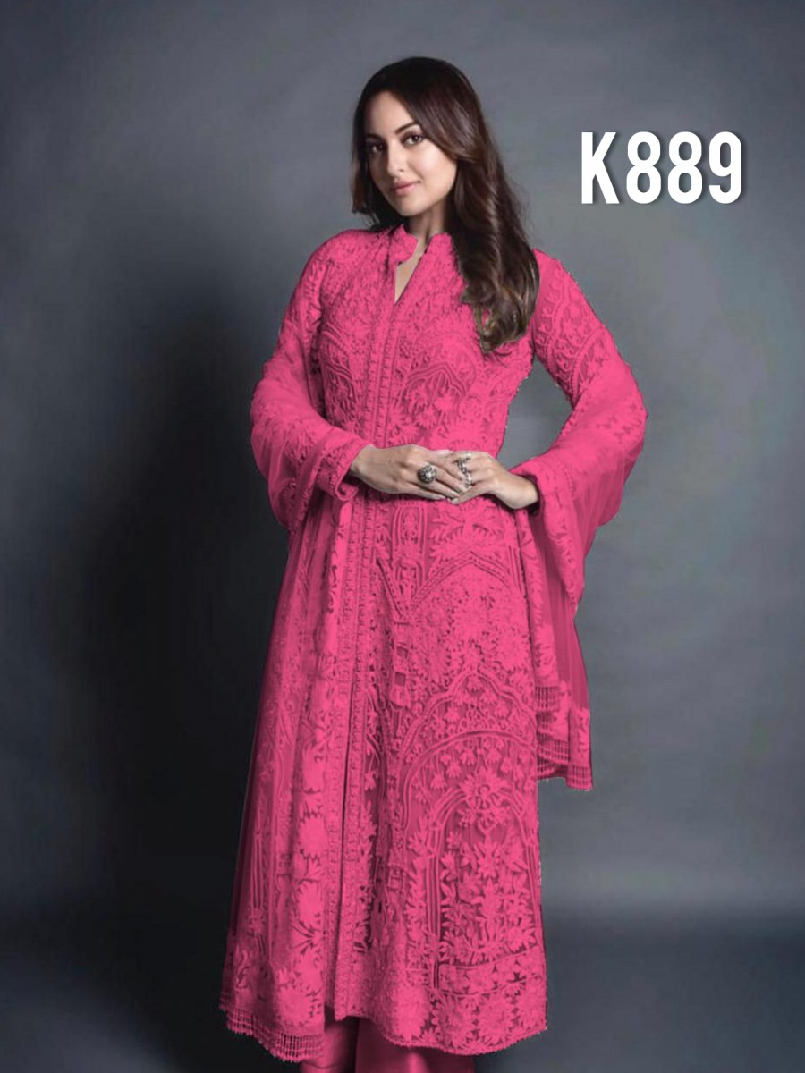 DESIGNER GEORGETTE KURTA WITH EMBROIDERY WORK K889