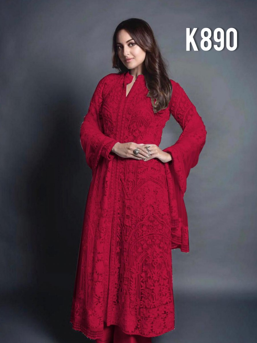 DESIGNER GEORGETTE KURTA WITH EMBROIDERY WORK K890