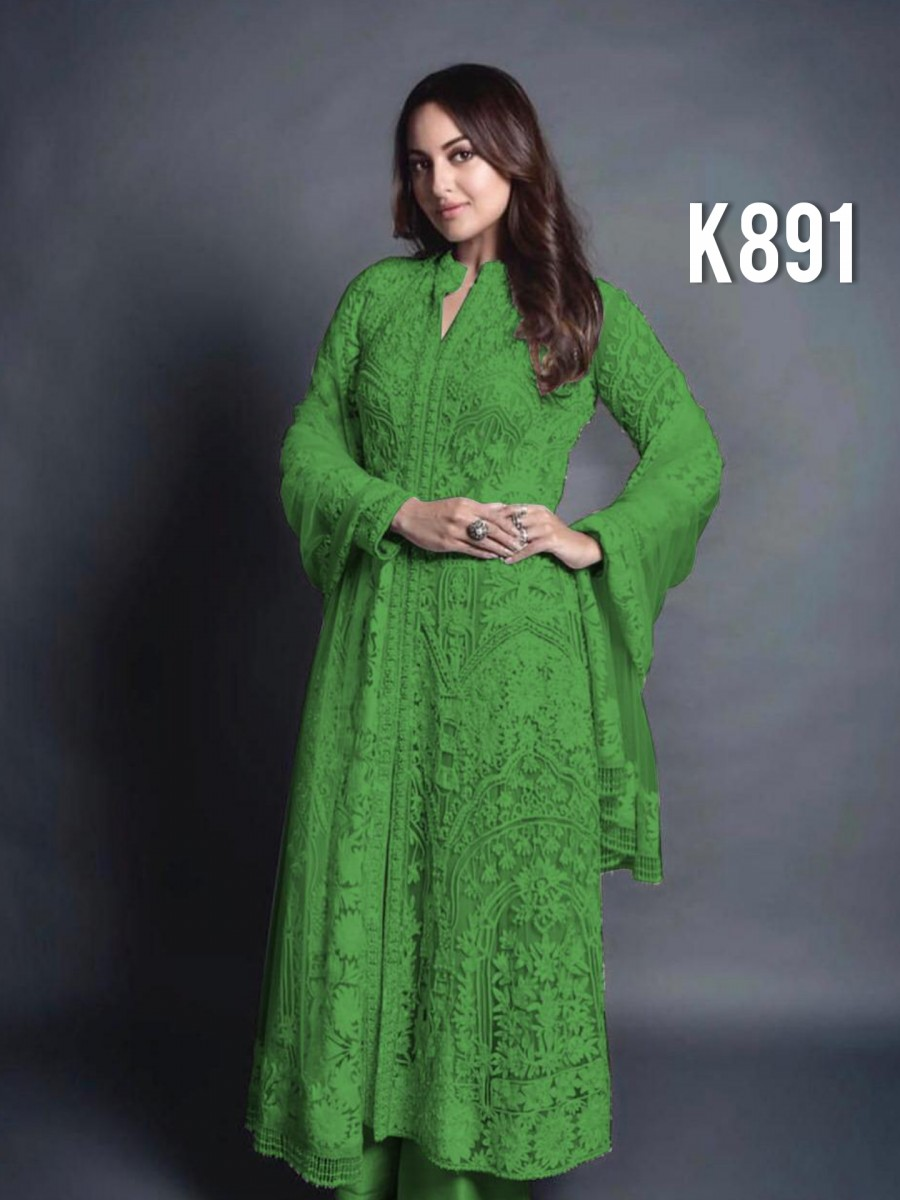 DESIGNER GEORGETTE KURTA WITH EMBROIDERY WORK K891