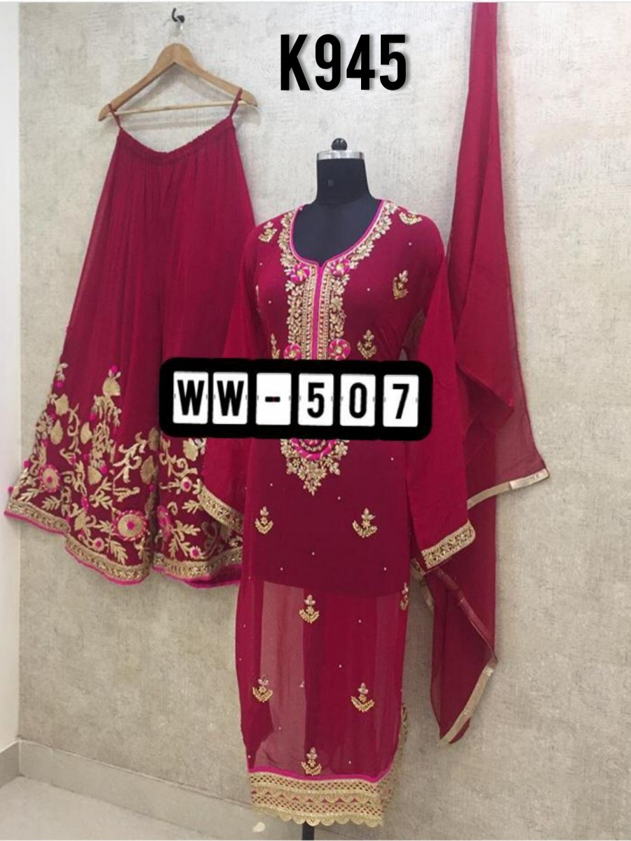DESIGNER GEORGETTE KURTA WITH EMBROIDERY WORK K945