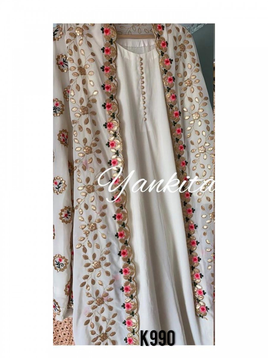 DESIGNER GEORGETTE KURTA WITH EMBROIDERY WORK K990