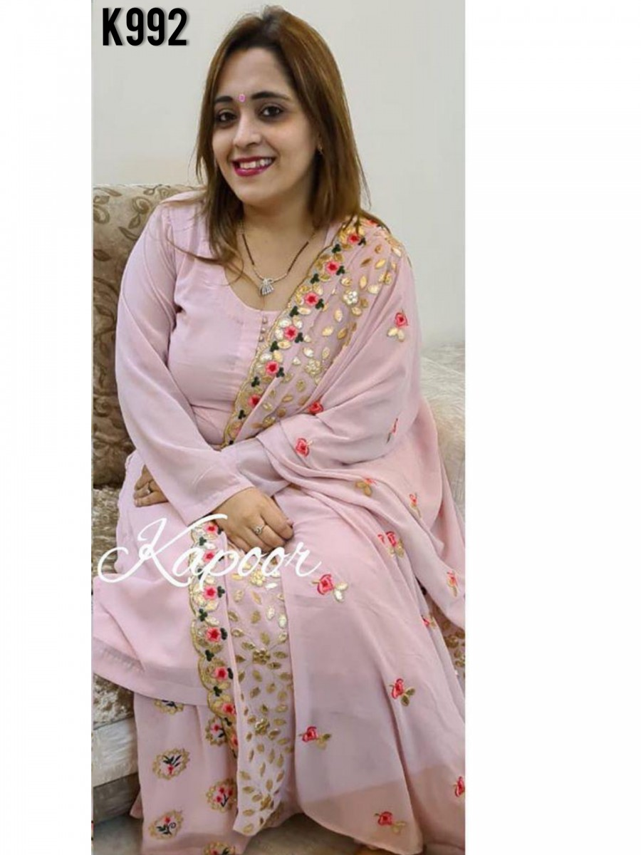 DESIGNER GEORGETTE KURTA WITH EMBROIDERY WORK K992