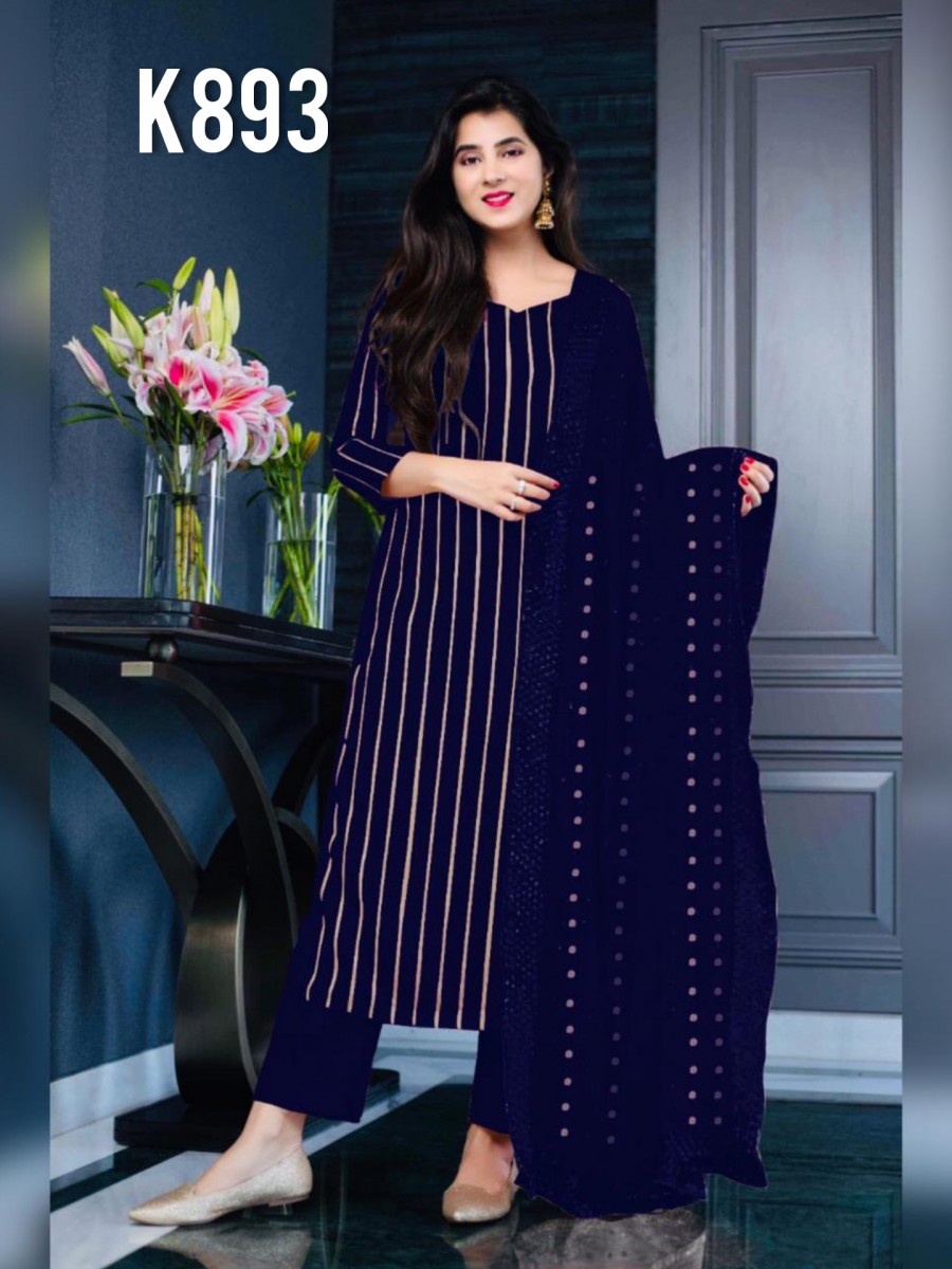 DESIGNER GEORGETTE KURTA WITH SEQUENCE WORK K893