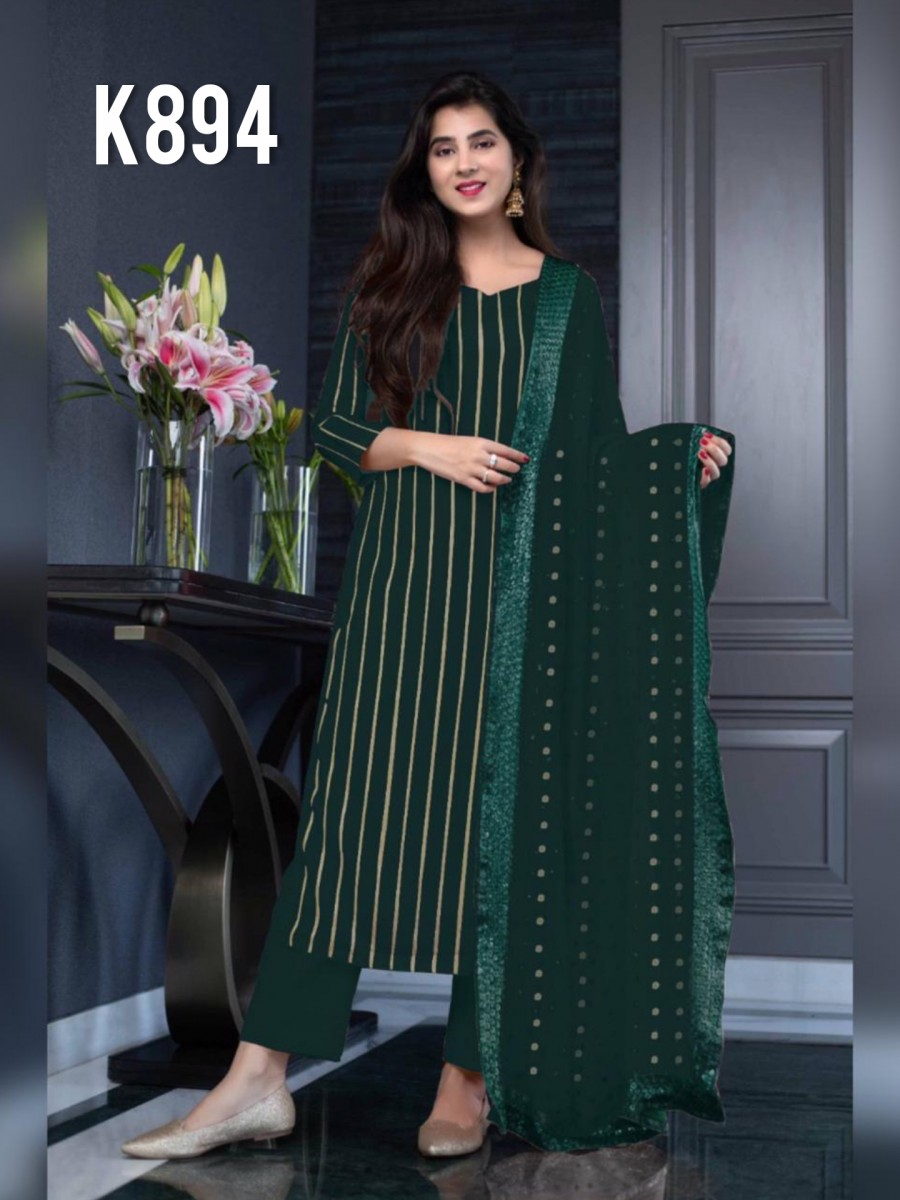 DESIGNER GEORGETTE KURTA WITH SEQUENCE WORK K894