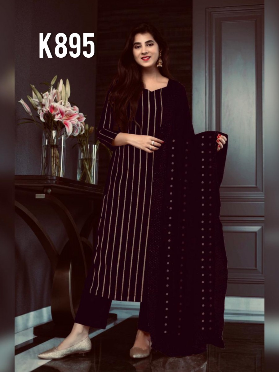 DESIGNER GEORGETTE KURTA WITH SEQUENCE WORK K895