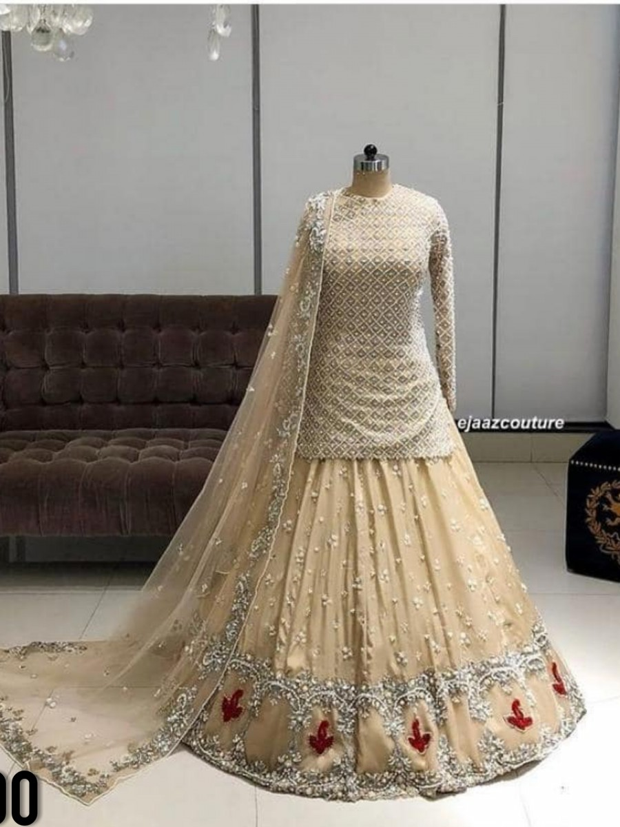 DESIGNER GEORGETTE LEHENGA CHOLI WITH EMBROIDERY WORK L200