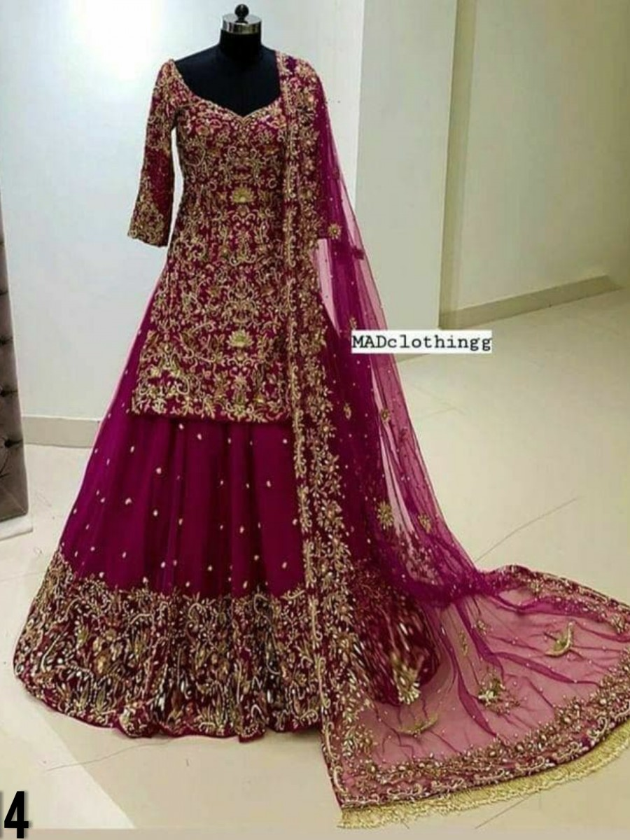 DESIGNER GEORGETTE LEHENGA WITH EMBROIDERY WORK L114
