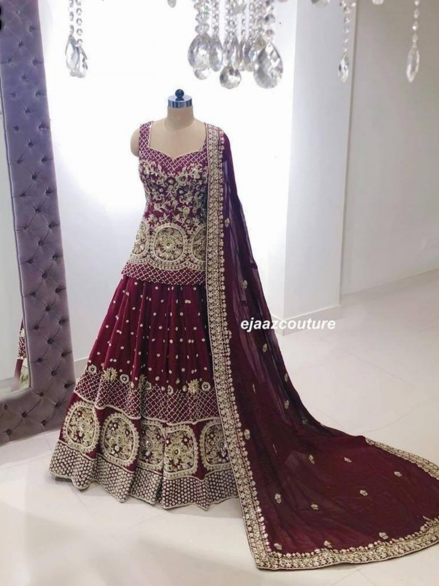 DESIGNER GEORGETTE LEHENGA WITH HEAVY EMBROIDERY WORK L128