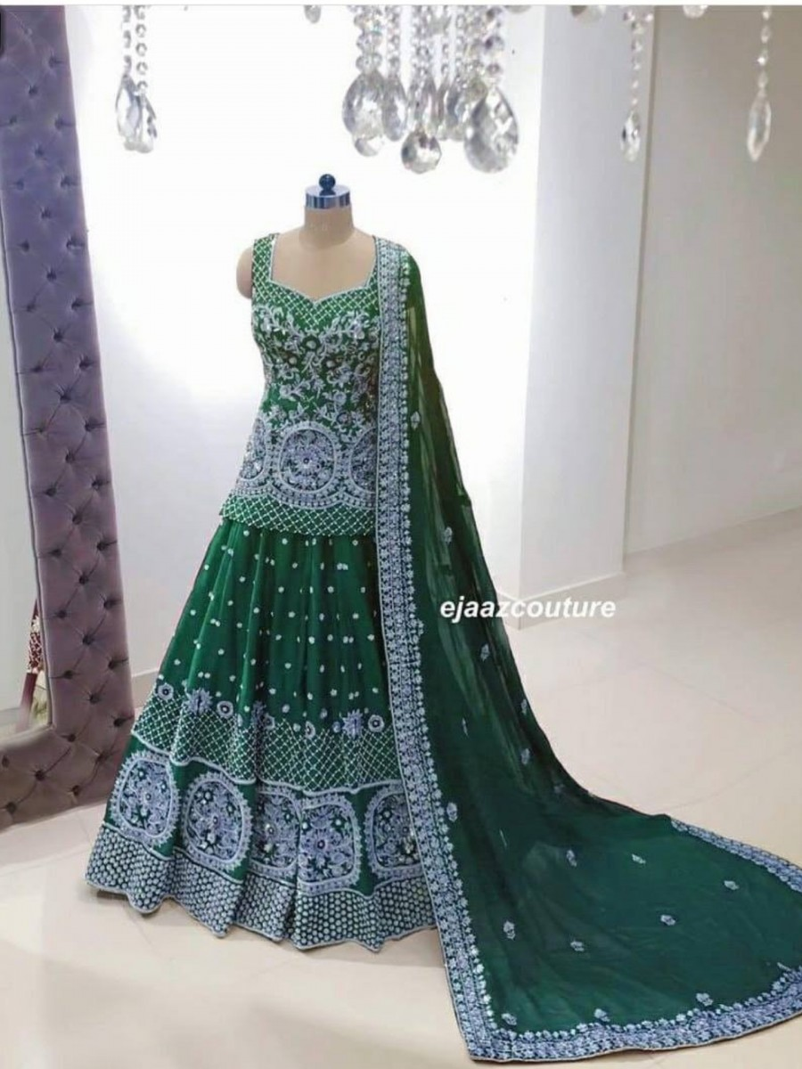 DESIGNER GEORGETTE LEHENGA WITH HEAVY EMBROIDERY WORK L129
