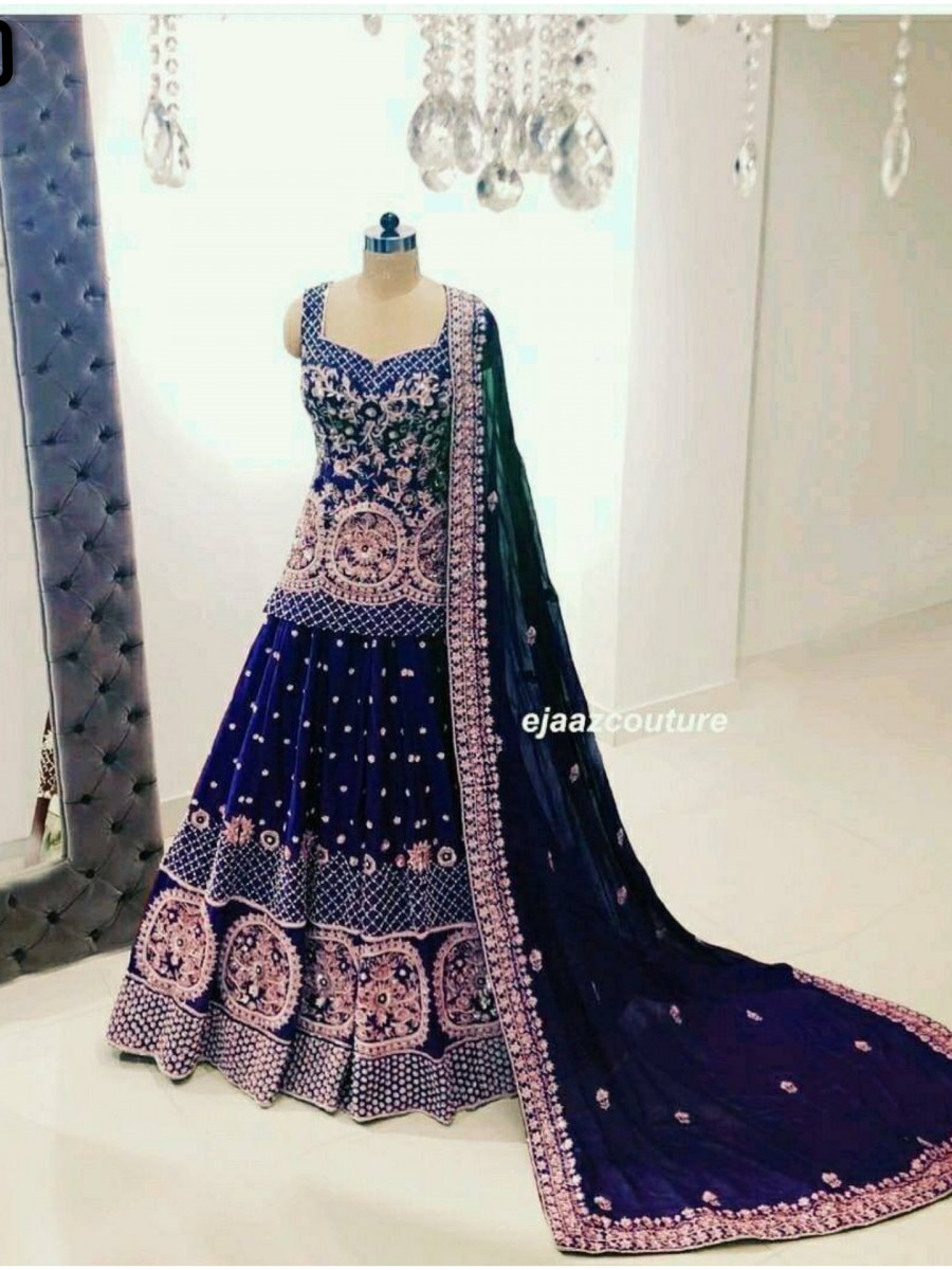 DESIGNER GEORGETTE LEHENGA WITH HEAVY EMBROIDERY WORK L130