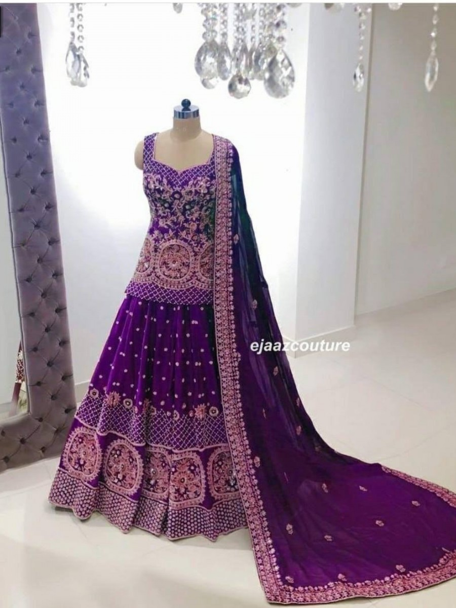 DESIGNER GEORGETTE LEHENGA WITH HEAVY EMBROIDERY WORK L131
