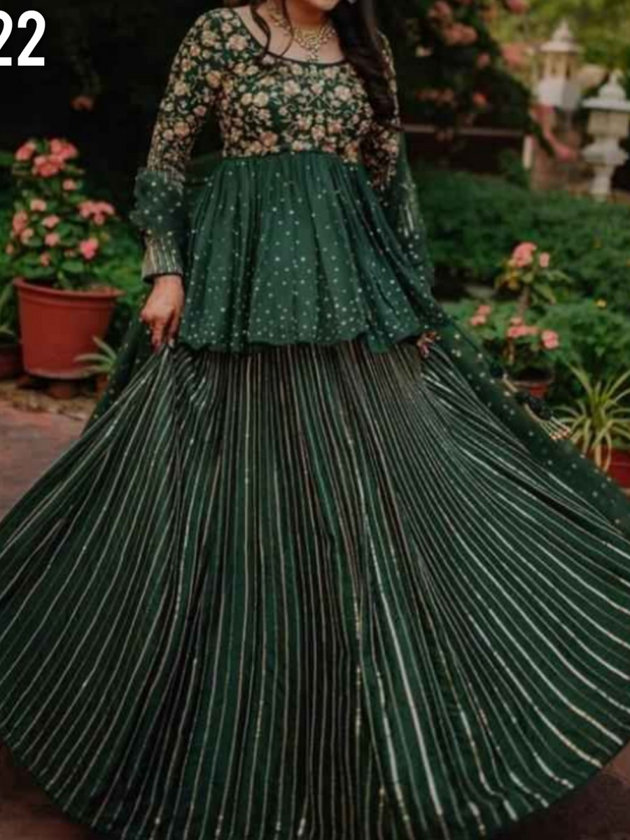 DESIGNER GEORGETTE LEHENGA WITH HEAVY EMBROIDERY WORK L222