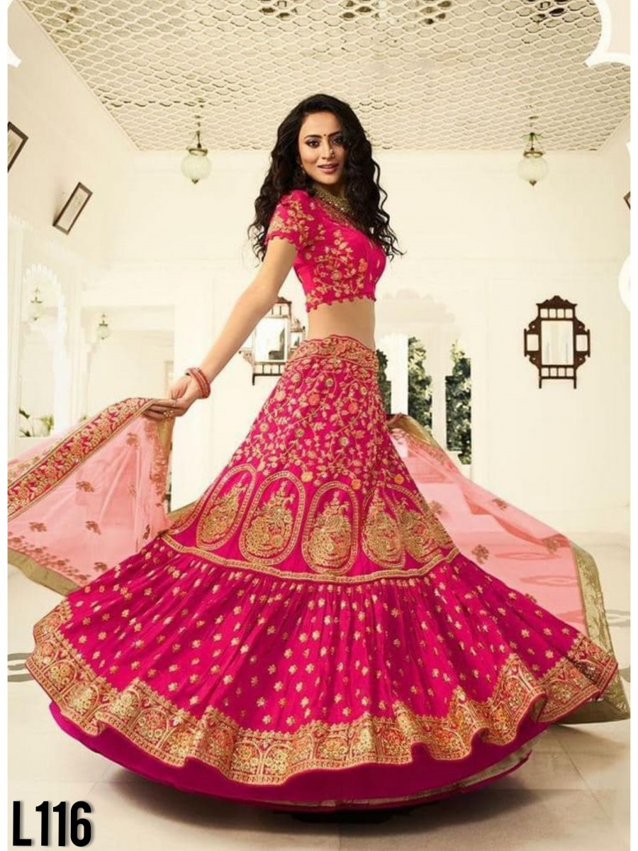 DESIGNER GEORGETTE NET LEHENGA WITH EMBROIDERY WORK L116
