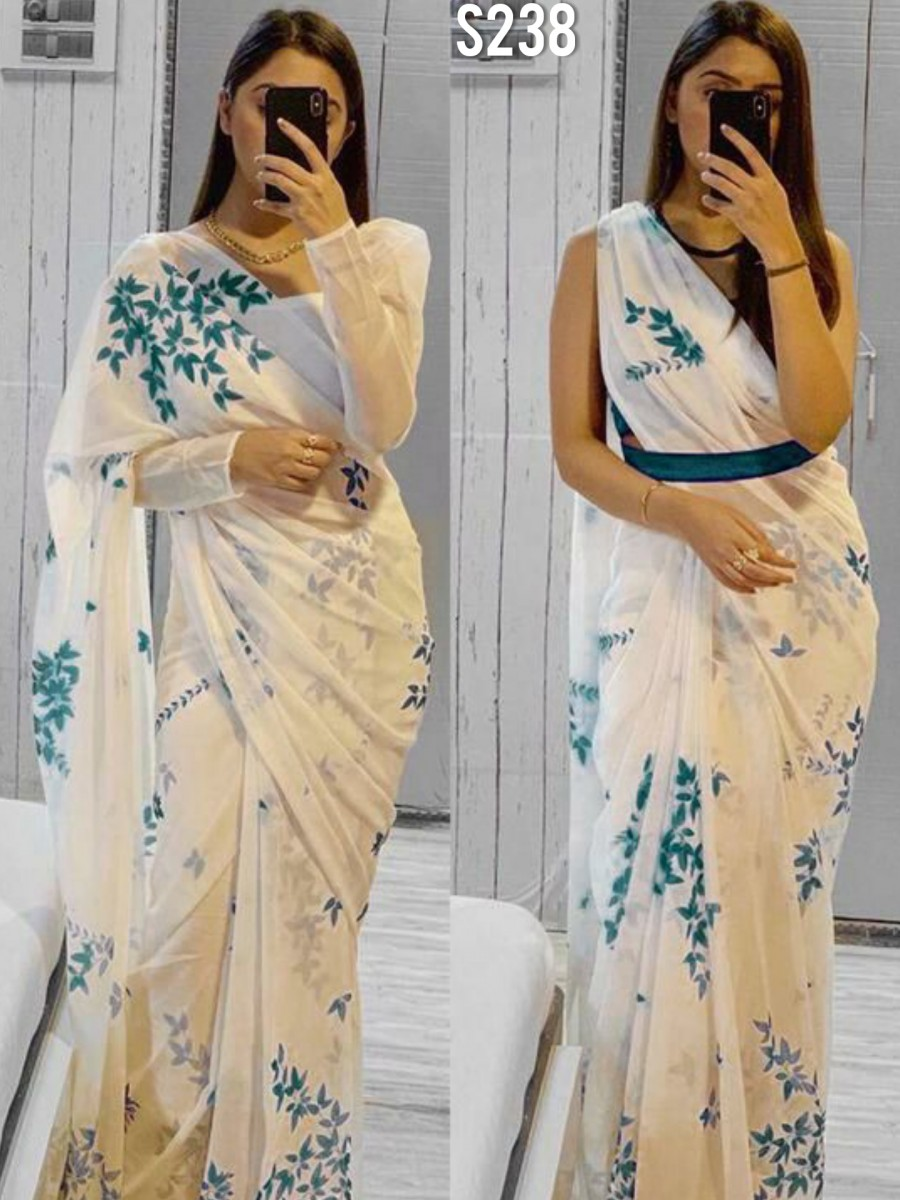 DESIGNER GEORGETTE SAREE WITH DIGITAL PRINT S238