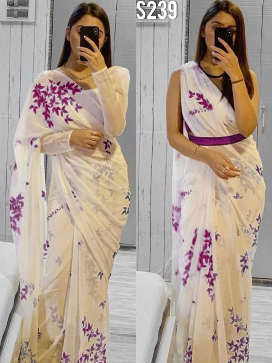 DESIGNER GEORGETTE SAREE WITH DIGITAL PRINT S239