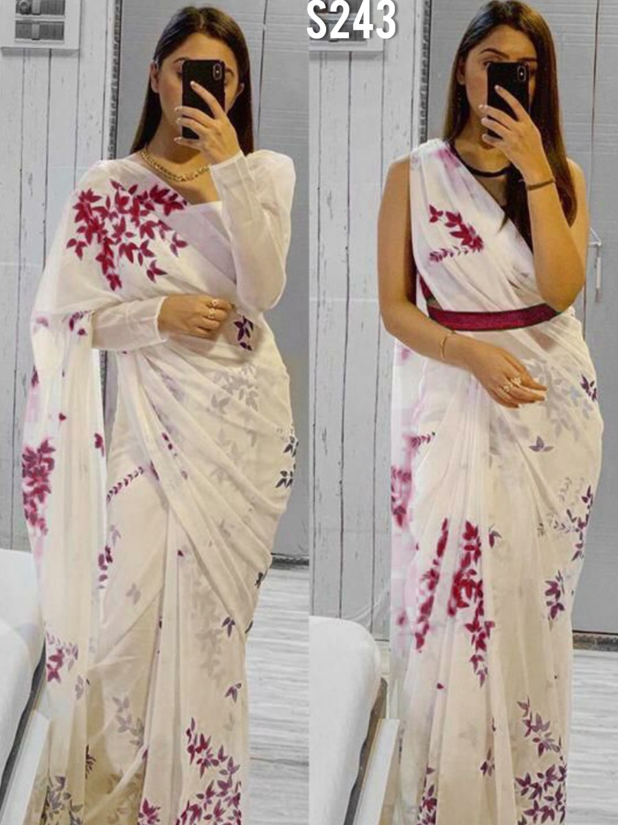 DESIGNER GEORGETTE SAREE WITH DIGITAL PRINT S243
