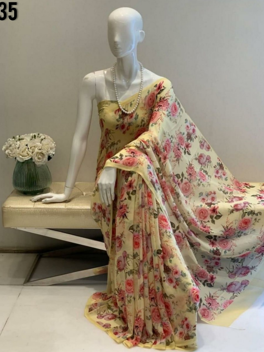 DESIGNER GEORGETTE SAREE WITH DIGITAL PRINT S35