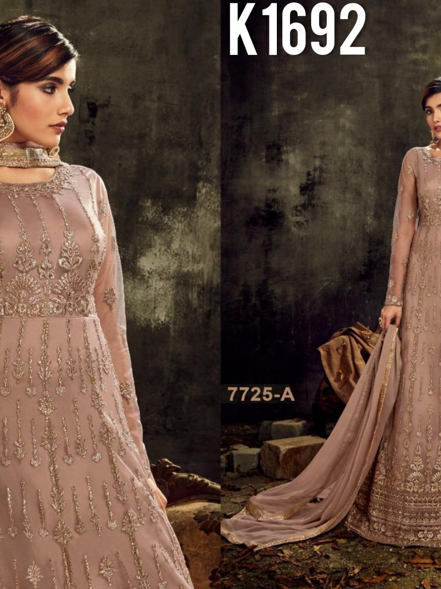 DESIGNER HEAVY BUTTERFLY NET SUIT WITH EMBROIDERY WORK K1692