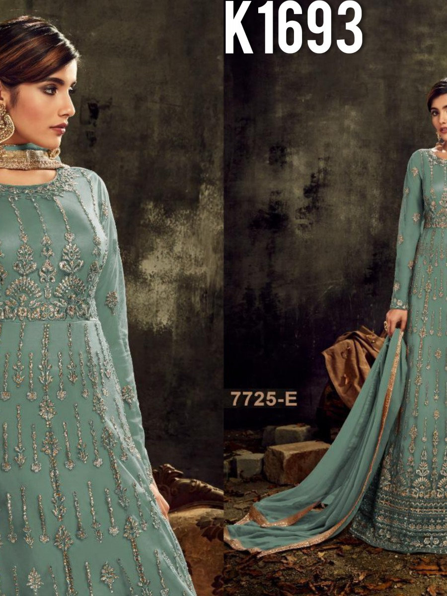 DESIGNER HEAVY BUTTERFLY NET SUIT WITH EMBROIDERY WORK K1693