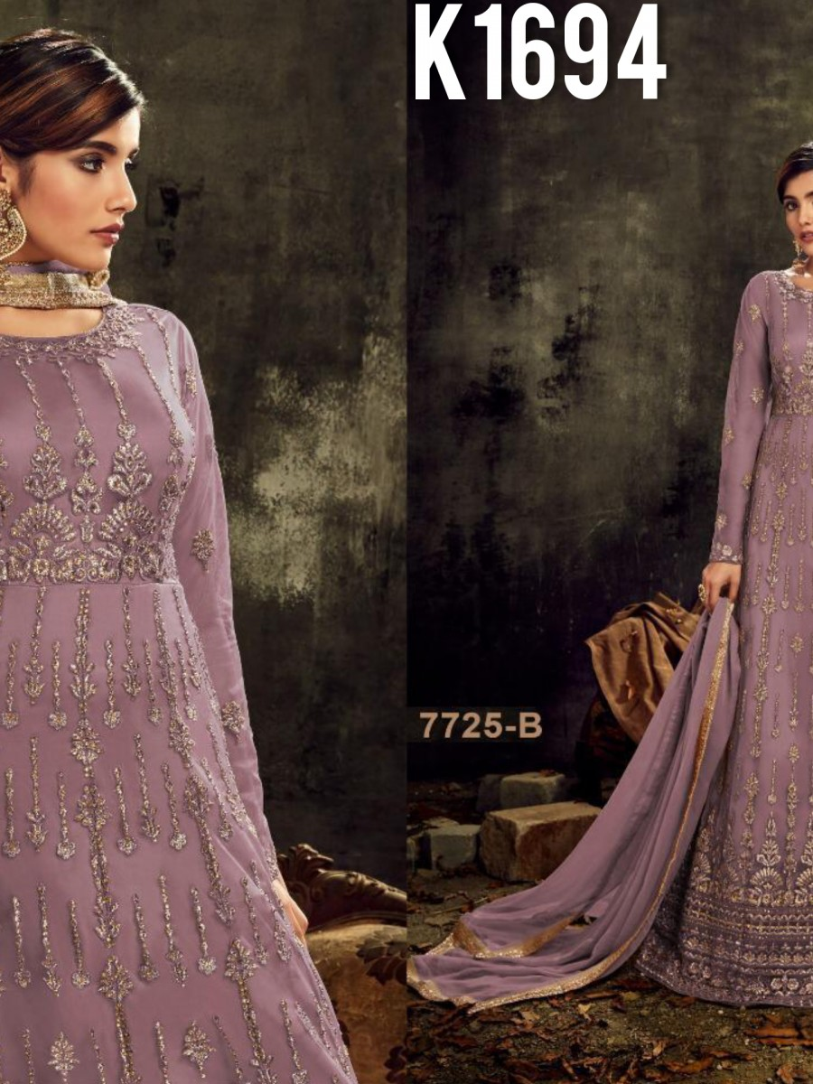 DESIGNER HEAVY BUTTERFLY NET SUIT WITH EMBROIDERY WORK K1694