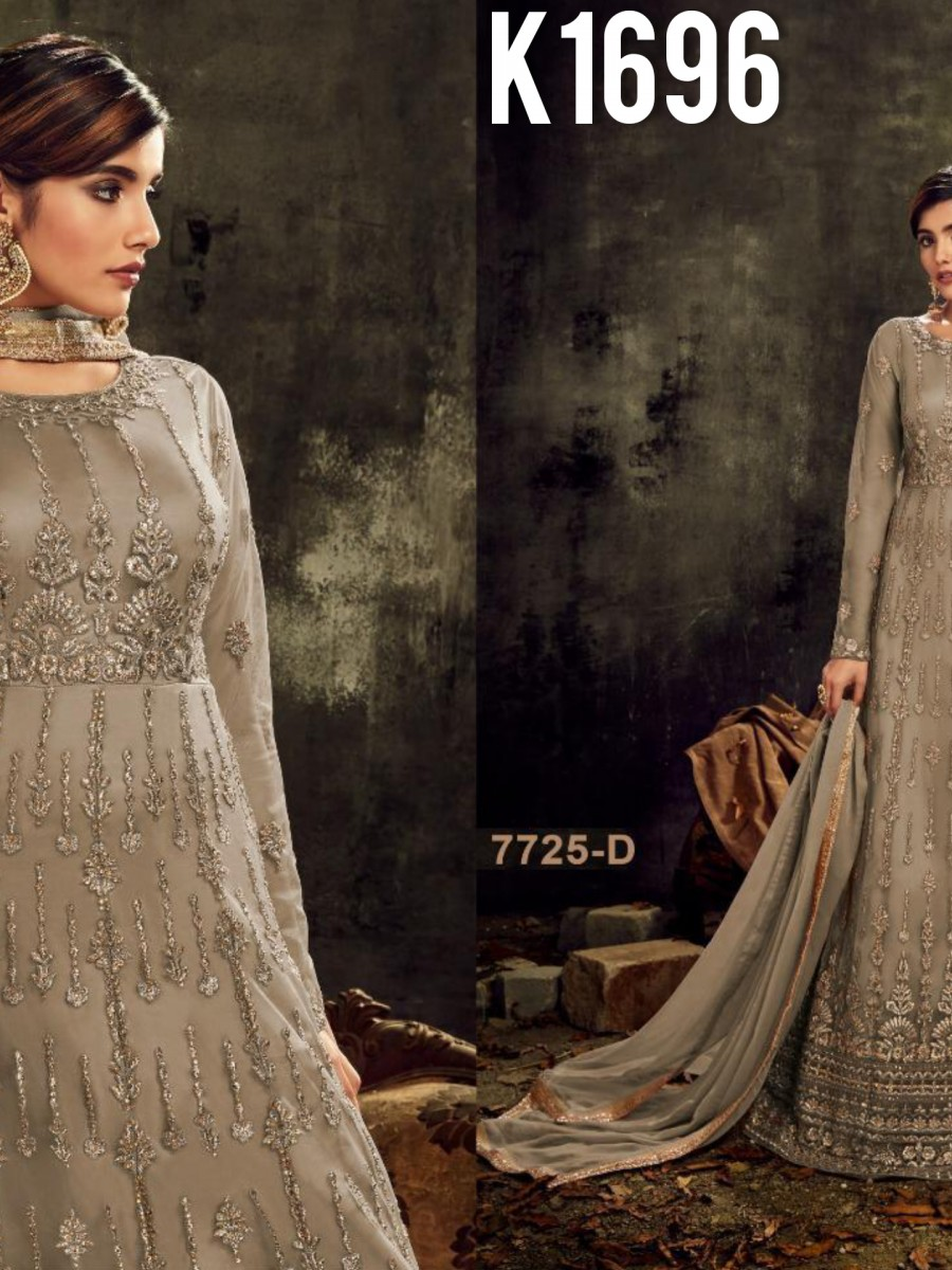 DESIGNER HEAVY BUTTERFLY NET SUIT WITH EMBROIDERY WORK K1696