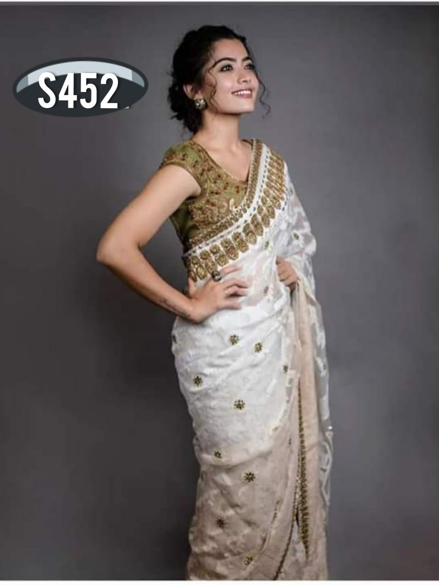 DESIGNER HEAVY CHAIN SAREE S452