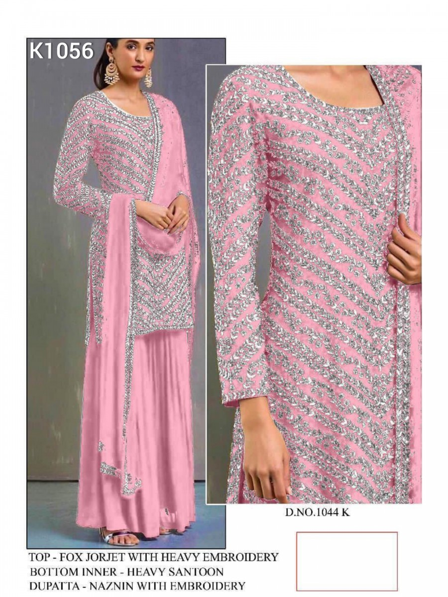 DESIGNER HEAVY FAUX GEORGETTE KURTA WITH HEAVY EMBROIDERY WORK K1076