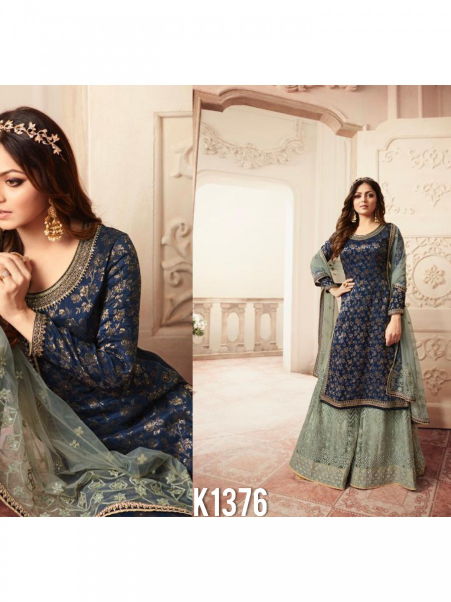DESIGNER HEAVY JACQUARD KURTA WITH EMBROIDERY WORK K1376