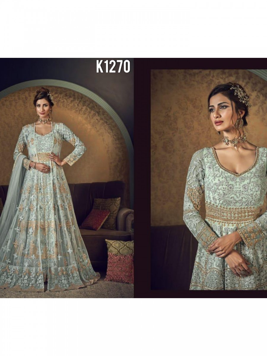 DESIGNER HEAVY PARTY WEAR GOWN K1270