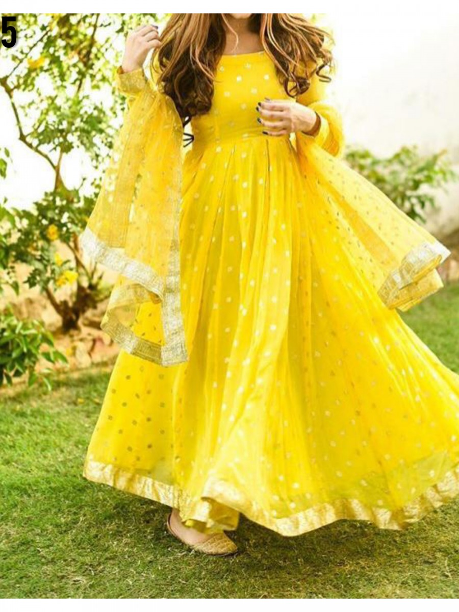 DESIGNER HEAVY SOFT NET ANARKALI WITH EMBROIDERY SEQUENCE WORK K1135
