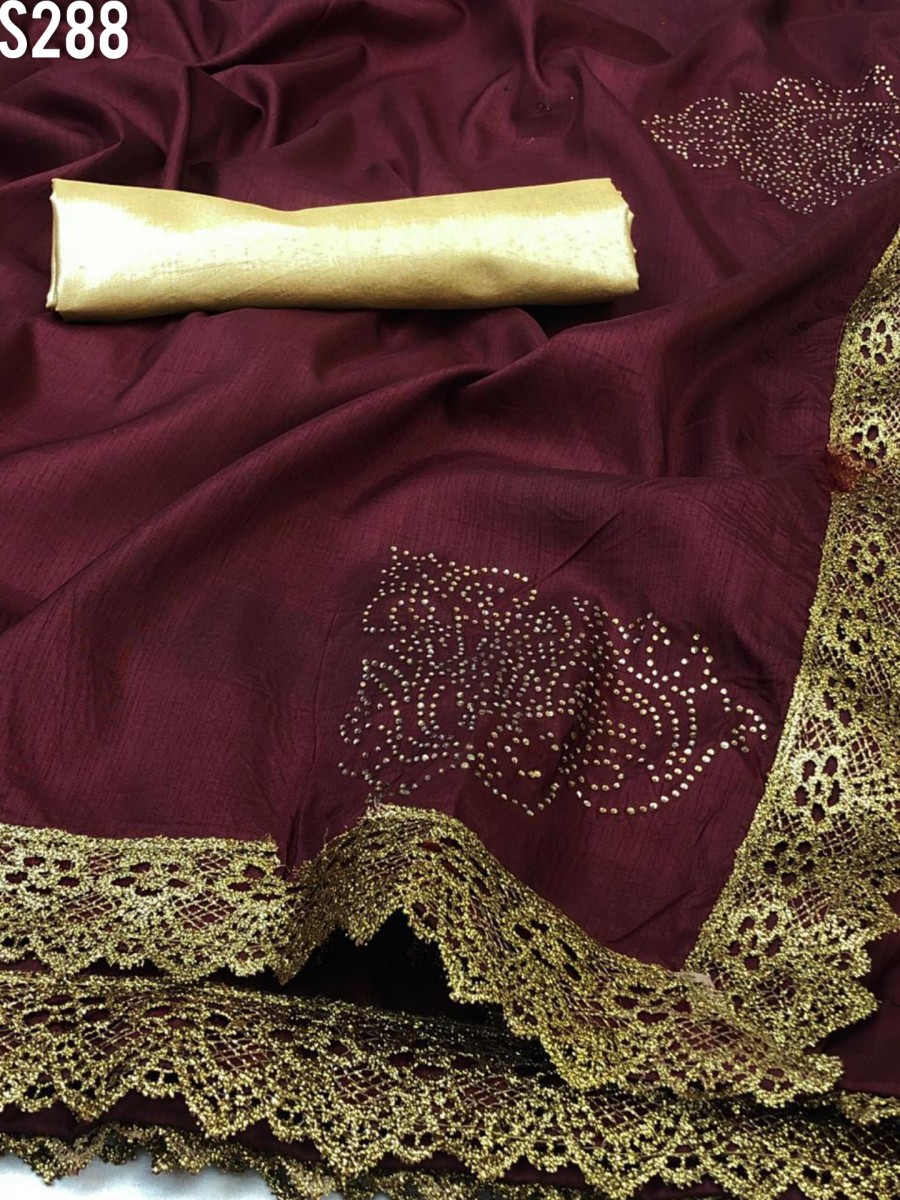 DESIGNER HEAVY ZERON SILK SAREE S288