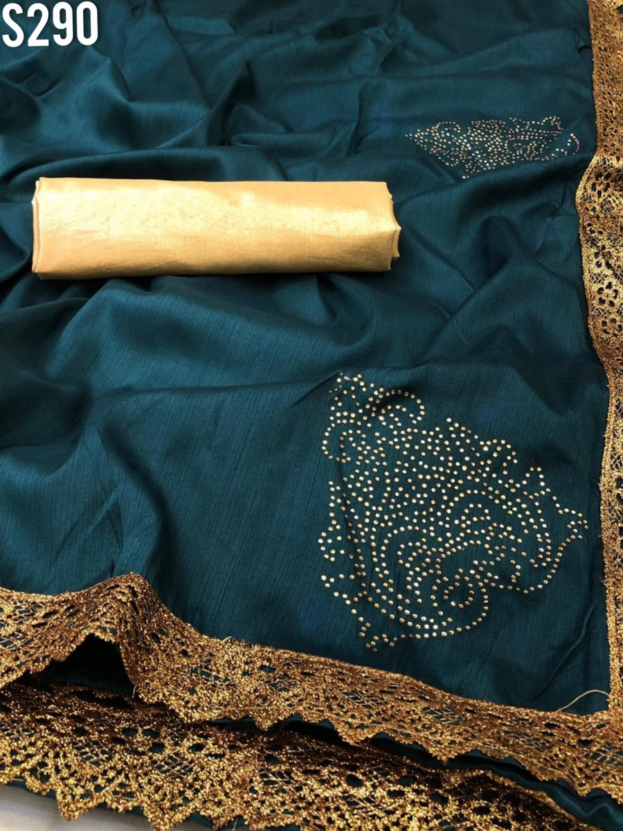 DESIGNER HEAVY ZERON SILK SAREE S290