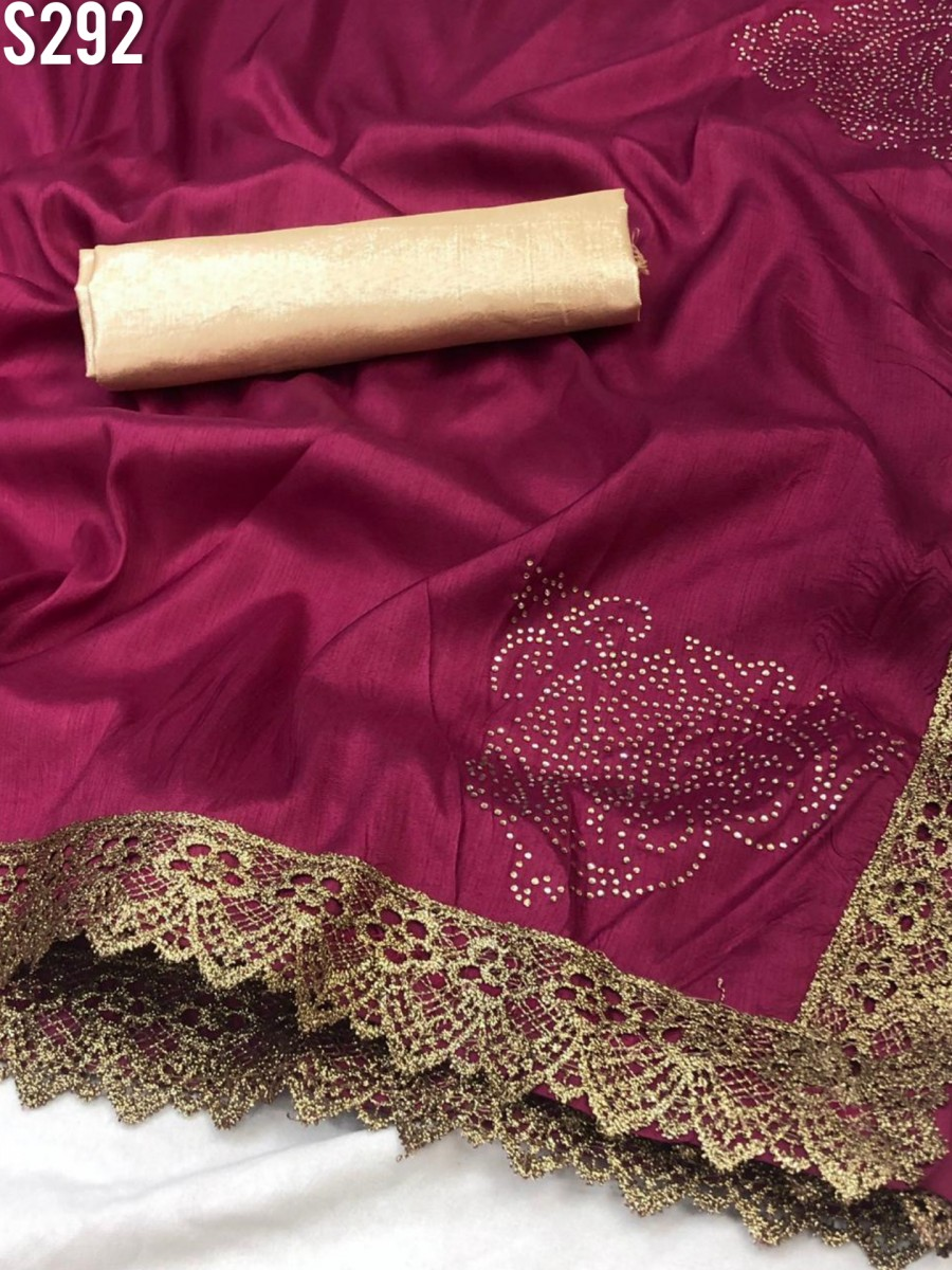 DESIGNER HEAVY ZERON SILK SAREE S292