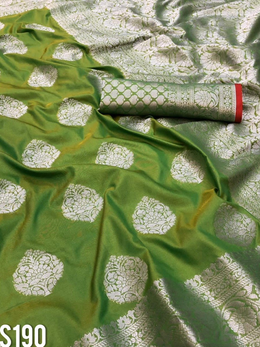 DESIGNER KANCHIPURAM HANDLOOM WEAVING SILK SAREE S190