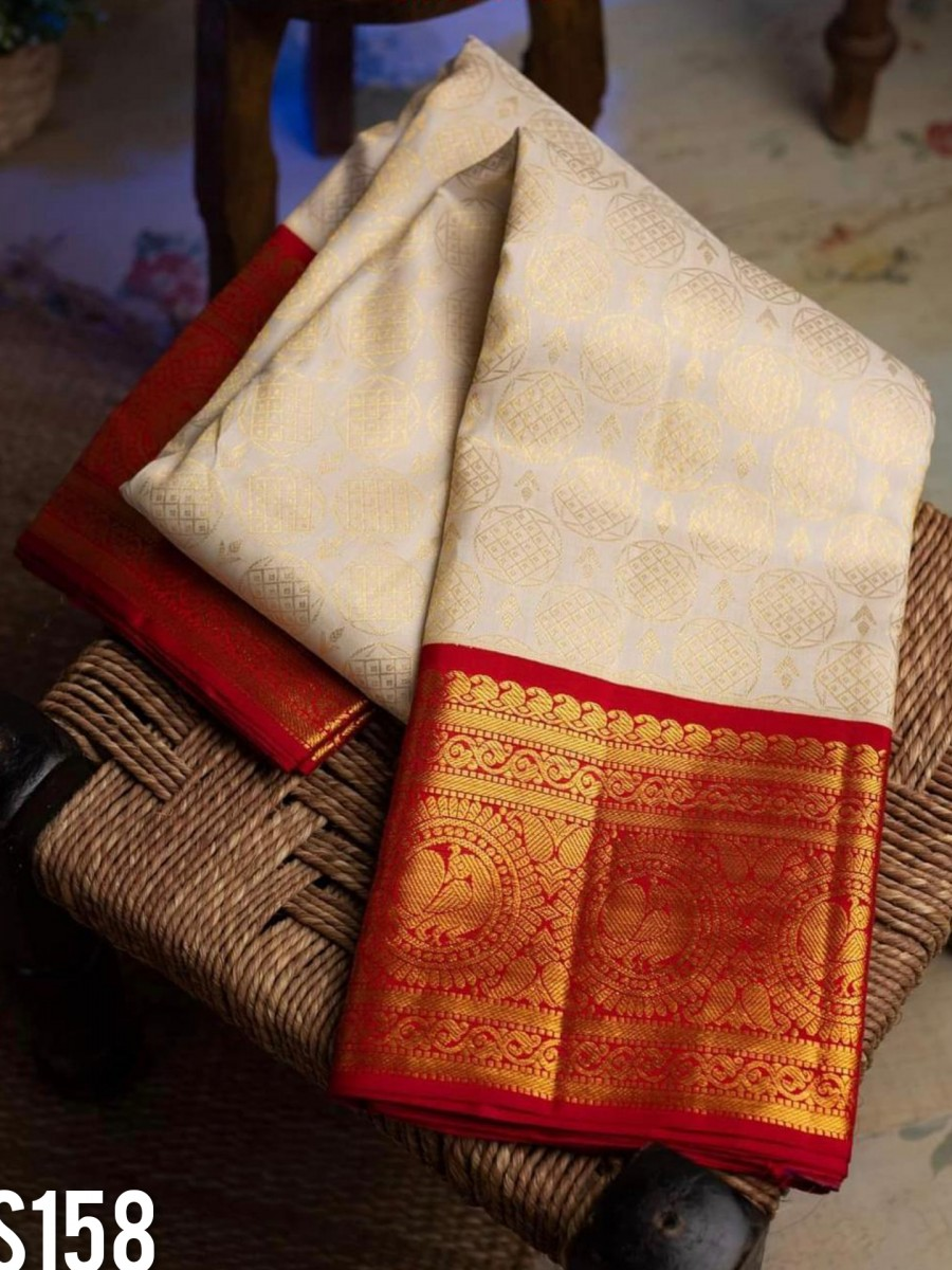 DESIGNER KANCHIPURAM SILK SAREE S158
