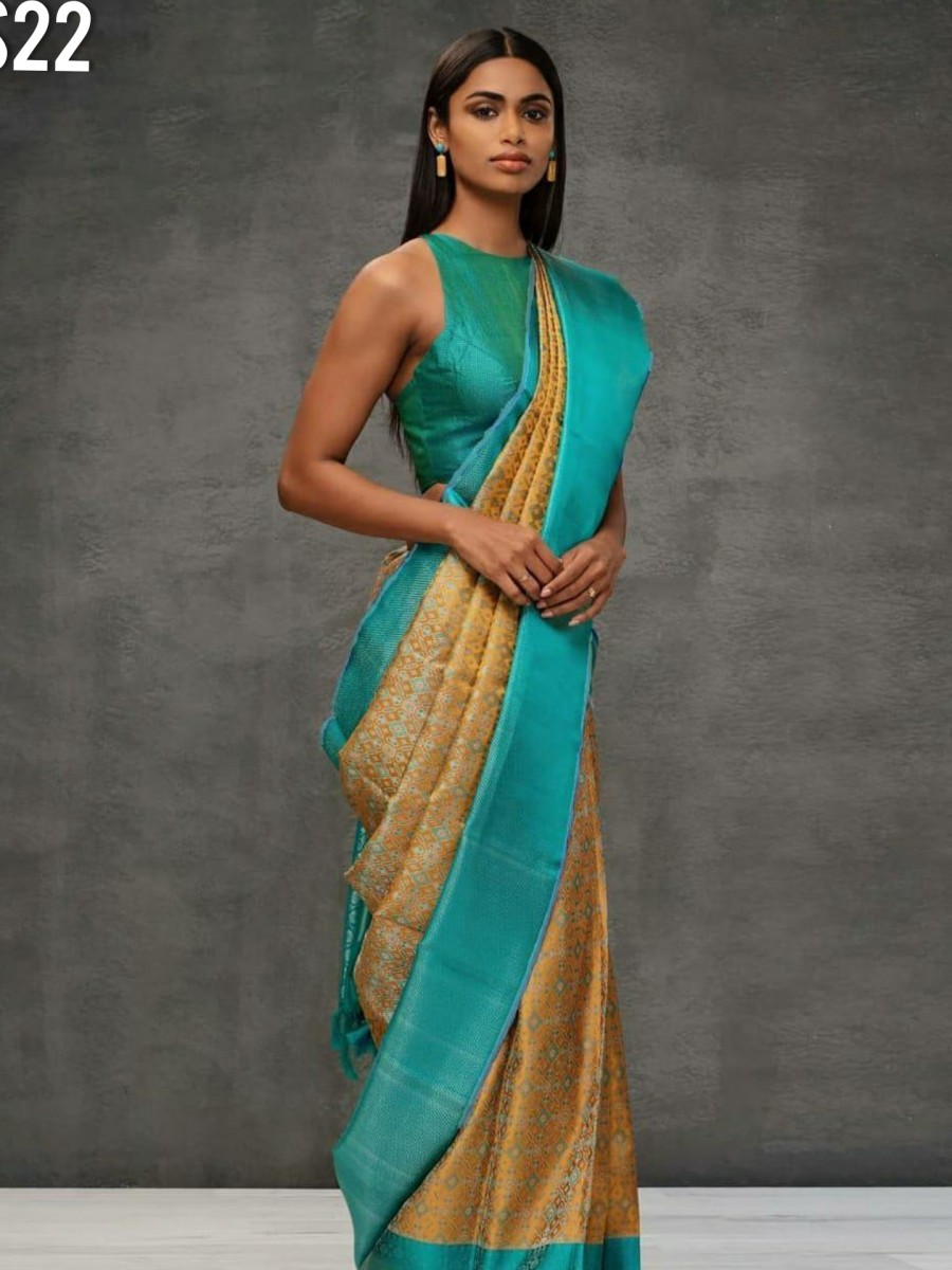 DESIGNER KANCHIPURAM SILK SAREE S22