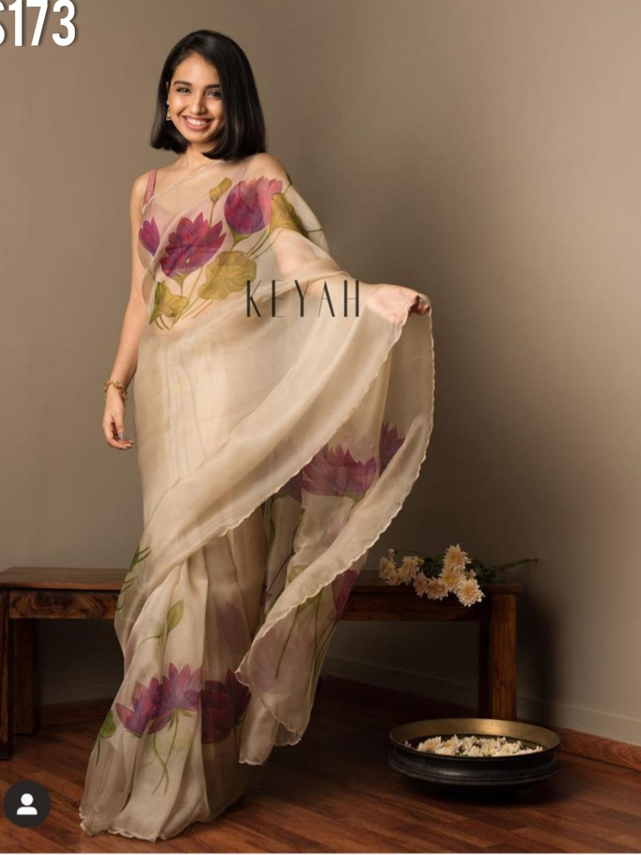 DESIGNER MULMUL COTTON SILK SAREE S173