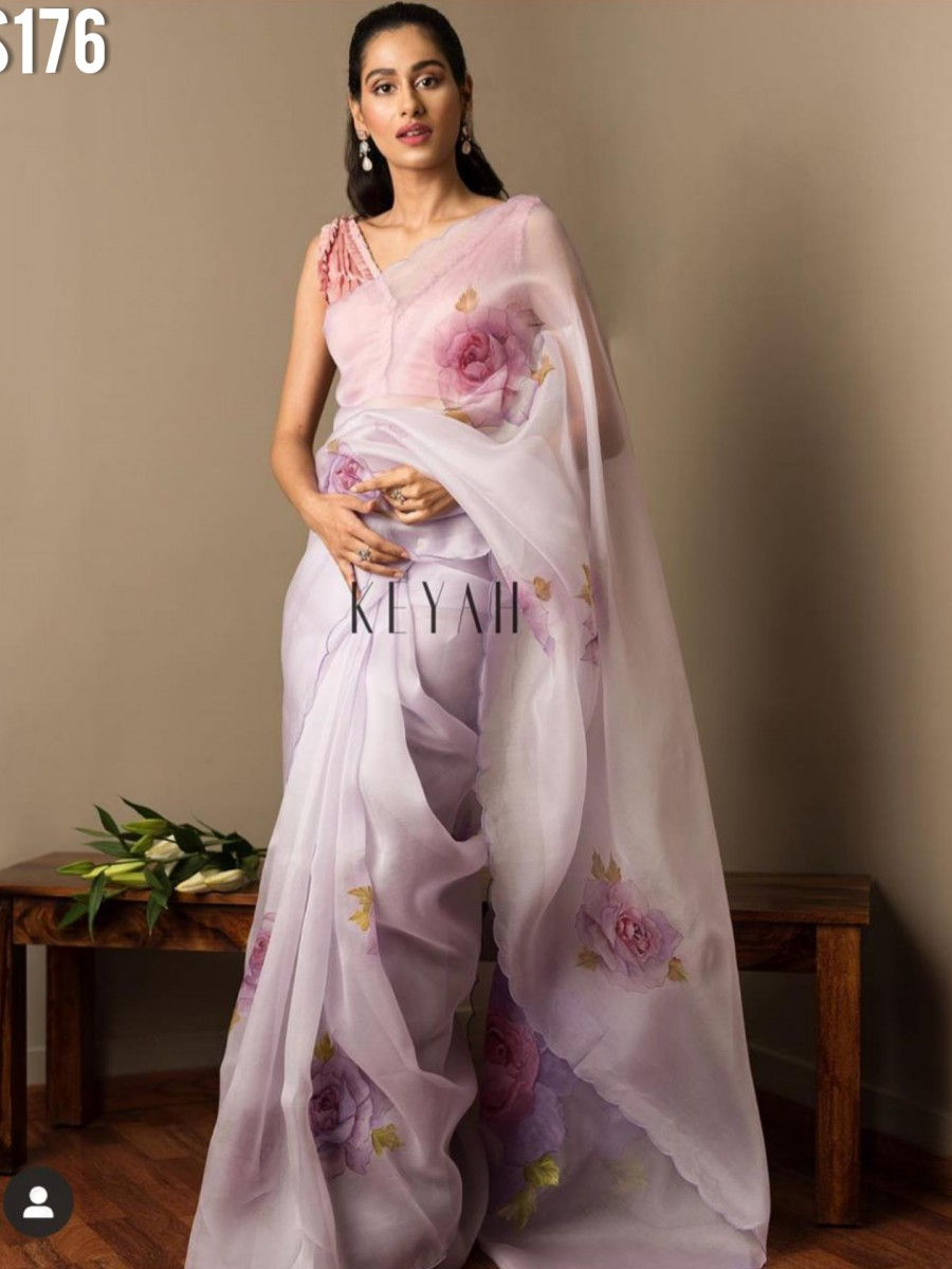 DESIGNER MULMUL COTTON SILK SAREE S176